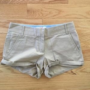 J. Crew Tan Chino Shorts